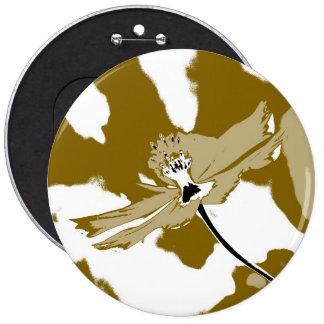 Belas artes sozinhas da flor do cosmos - botão bóton redondo 15.24cm
