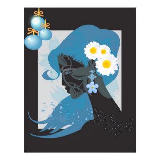 beleza azul modelo de panfleto