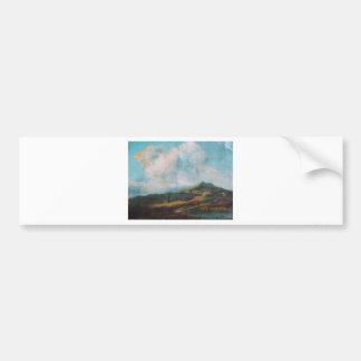 Beleza da nuvem através de uma pintura a óleo adesivo para carro