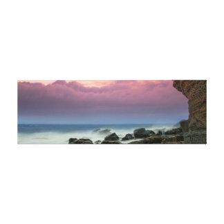 Beleza da praia impressão em tela
