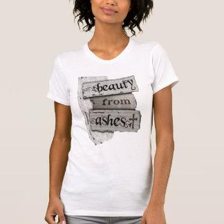 Beleza das notas cristãs do jornal das cinzas camisetas