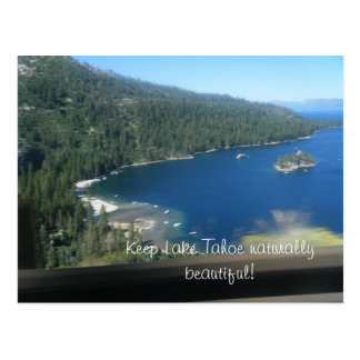 Beleza de Lake Tahoe Cartão Postal