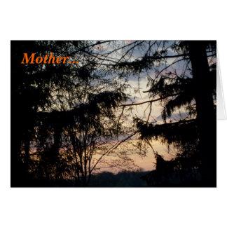 Beleza do dia das mães cartão comemorativo
