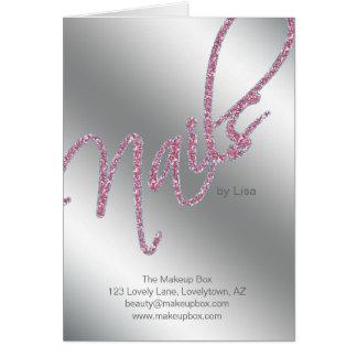 Beleza do folheto do salão de beleza do prego cartão comemorativo