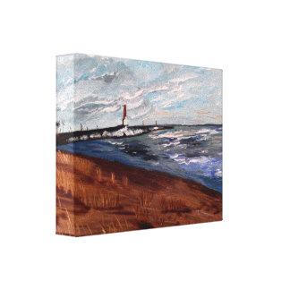 Beleza do Lago Michigan Impressão Em Canvas