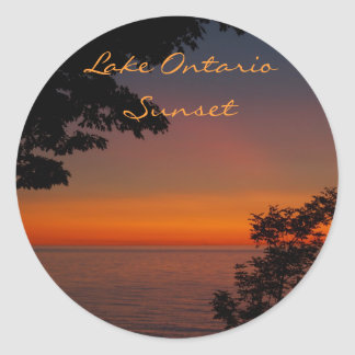 beleza do por do sol, lago OntarioSunset, foto Adesivo