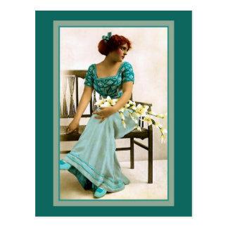 Beleza do Victorian, foto restaurada Cartão Postal
