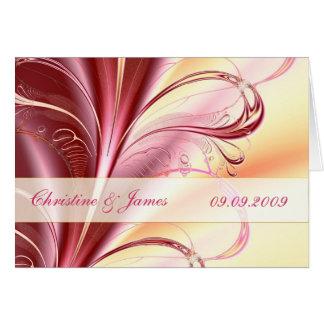 Beleza floral, cartão Wedding do convite