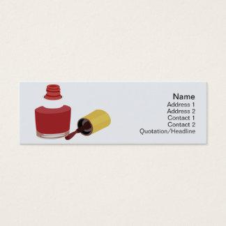 Beleza - magro cartão de visitas mini