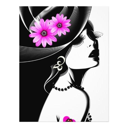 beleza preta panfleto personalizado