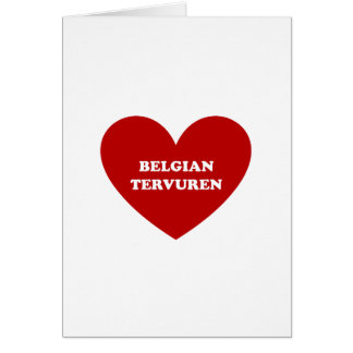 Belga Tervuren Cartão