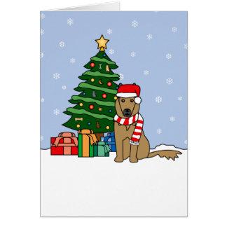 Belga Tervuren e árvore de Natal Cartão