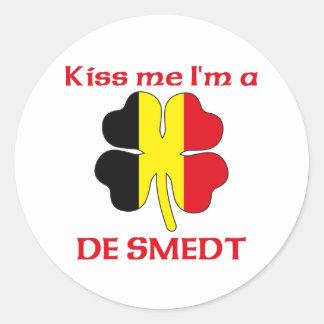 Belgas personalizados beijam-me que eu sou De Adesivo