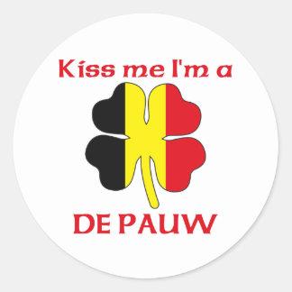 Belgas personalizados beijam-me que eu sou De Pauw Adesivo