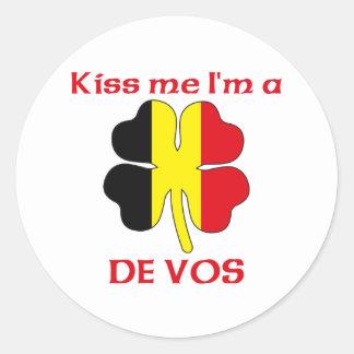 Belgas personalizados beijam-me que eu sou De Vos Adesivo