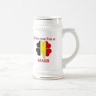 Belgas personalizados beijam-me que eu sou Maes Canecas