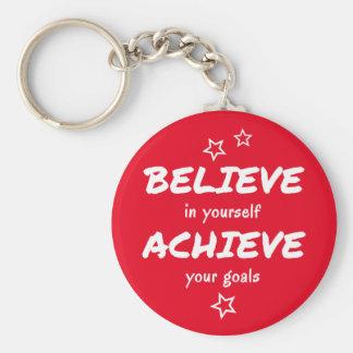 Believe consegue o vermelho inspirador chaveiro