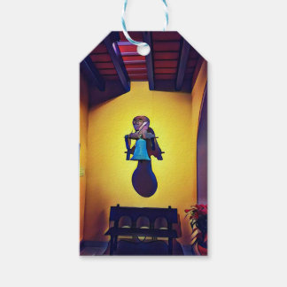 Bell montada artística ingénua da igreja etiqueta para presente