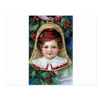Bell na árvore de Natal Cartão Postal