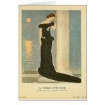 Belle Affligee do La do ~ da ilustração do art dec Cartão