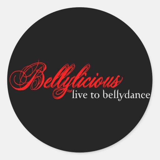 Bellylicious Adesivo Em Formato Redondo