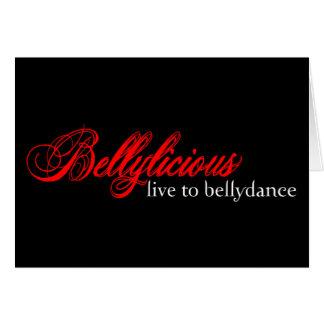 Bellylicious Cartão Comemorativo