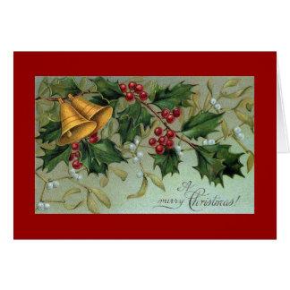 Bels do cartão do Natal do azevinho