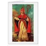 Bênção de São Nicolau por Francesco Guardi Cartão Comemorativo