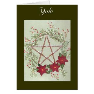 Bênção de Yule Cartão Comemorativo