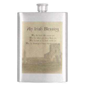 Bênção irlandesa do vintage frascos de bebida