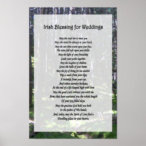Bênção irlandesa para casamentos pôster