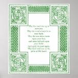 Bênção irlandesa velha em nós celtas impressão