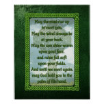 Bênção irlandesa verde pôsteres