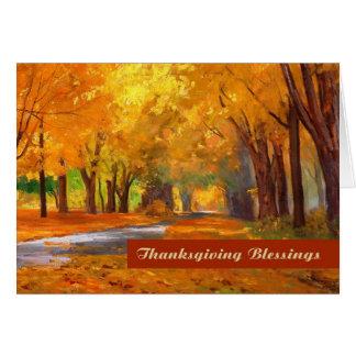 Bênçãos da acção de graças. Cartão das belas artes