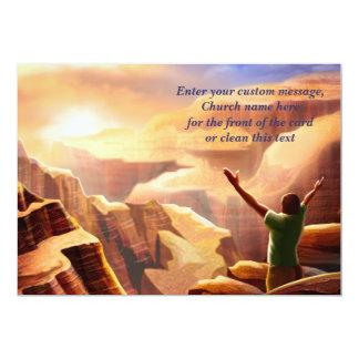 Bênçãos da páscoa. Cartões de páscoa cristãos Convite 12.7 X 17.78cm