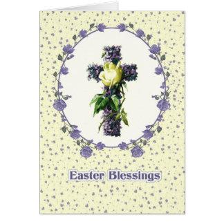 Bênçãos da páscoa. Cartões religiosos da páscoa