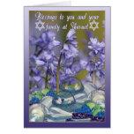 Bênçãos de Shavuot - cartão de Shavuot com Bluebel