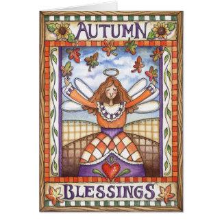 Bênçãos do outono - cartão