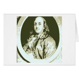 Benjamin Franklin Cartão Comemorativo