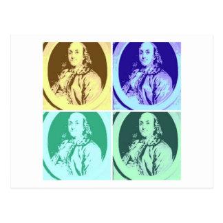 Benjamin Franklin Cartão Postal