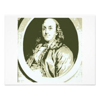 Benjamin Franklin Convites Personalizado
