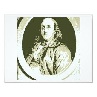 Benjamin Franklin Convite 10.79 X 13.97cm