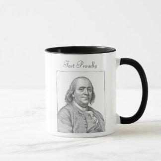 Benjamin Franklin Fart orgulhosa caneca