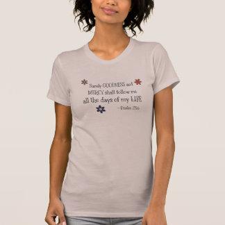 Bens & compaixão - 23:6 do salmo (malva) tshirt