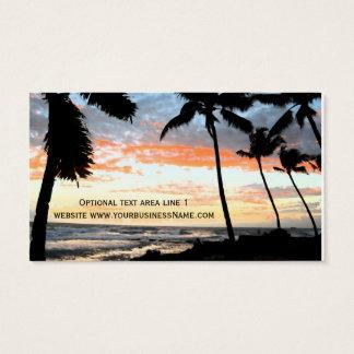 Bens imobiliários da praia tropical da palmeira cartão de visitas