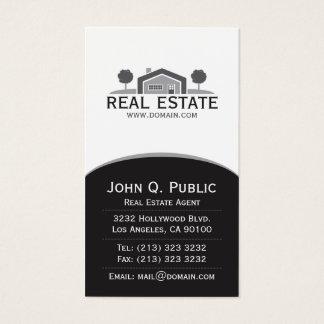 Bens imobiliários elegantes cartão de visitas