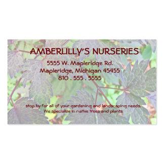 Berçário e fonte de jardinagem cartão de visita