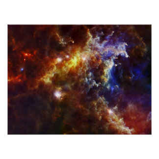 Berçário estelar nas nebulosa do Rosette Pôster