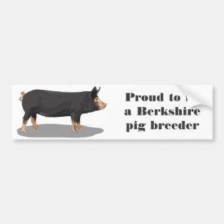 Berkshire, orgulhoso ser um criador do porco de Be Adesivo