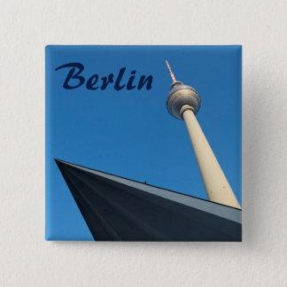 Berlim Fernsehturm Bóton Quadrado 5.08cm